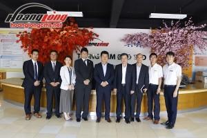 Đón đoàn Đại sứ quán Nhật Bản đến thăm Công ty Hoàng Long CMS