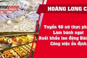 Tuyển 40 nữ thực phẩm Xuất khẩu lao động Đài Loan: Công việc ổn định, xuất cảnh nhanh