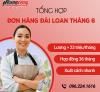 Tổng hợp đơn hàng đi Đài Loan tháng 6, mức lương tốt, xuất cảnh sớm