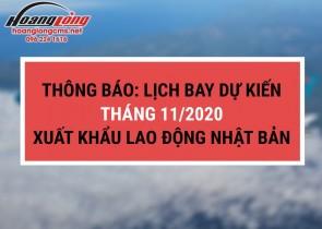 Hoàng Long CMS – Xuất khẩu lao động Nhật Bản: Lịch bay dự kiến tháng 11/2020