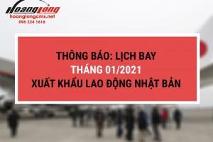 Hoàng Long CMS – Xuất khẩu lao động Nhật Bản: Lịch bay dự kiến tháng 01/2021